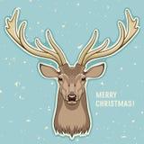 Wesoło kartka bożonarodzeniowa Obraz Royalty Free