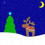 Wesoło kartka bożonarodzeniowa ilustracji