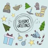 Wesoło kartka bożonarodzeniowa bożych narodzeń składu chłodno zielony powitań wakacje ornamentuje fotografii teraźniejszość czerw Obraz Royalty Free