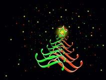 Wesoło Kartka bożonarodzeniowa, drzewo Zdjęcie Royalty Free