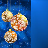 Wesoło kartka bożonarodzeniowa EPS 8 Obraz Royalty Free