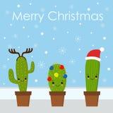 Wesoło kartka bożonarodzeniowa  karciany śliczny powitanie ilustracja wektor