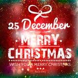 Wesoło kartka bożonarodzeniowa na grunge papierze Obraz Stock