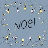 Wesoło kartka bożonarodzeniowa noel również zwrócić corel ilustracji wektora Zdjęcie Stock