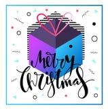 Wesoło kartka bożonarodzeniowa projekt Obraz Royalty Free