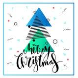 Wesoło kartka bożonarodzeniowa projekt Zdjęcia Stock