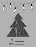 Wesoło kartka bożonarodzeniowa również zwrócić corel ilustracji wektora Zdjęcie Stock