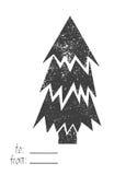 Wesoło kartka bożonarodzeniowa również zwrócić corel ilustracji wektora Zdjęcia Royalty Free