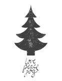 Wesoło kartka bożonarodzeniowa również zwrócić corel ilustracji wektora Zdjęcia Stock