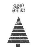Wesoło kartka bożonarodzeniowa również zwrócić corel ilustracji wektora Obraz Stock