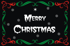 Wesoło kartka bożonarodzeniowa sztandar Fotografia Stock