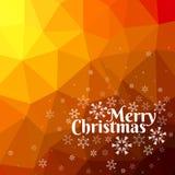 Wesoło kartka bożonarodzeniowa z trójboka tłem Obrazy Stock