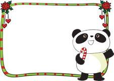 Wesoło kartki bożonarodzeniowa granicy rama Zdjęcia Stock