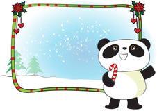 Wesoło kartki bożonarodzeniowa granicy rama Zdjęcia Royalty Free
