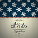 Wesoło kartki bożonarodzeniowa i płatka śniegu dekoraci tło Obraz Royalty Free