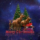 Wesoło kartki bożonarodzeniowa tapeta Fotografia Stock