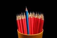Wesoło ołówek wśród smutnego Zdjęcia Royalty Free