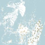 Wesoło ręka rysująca choinki świerczyny rożka gałąź fotografia stock