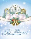 wesołych Świąt boksuje bożych narodzeń dekoracj prezent Obraz Royalty Free