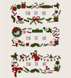 wesołych Świąt Grreting karta Rocznika zaproszenie Ilustracji