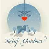 wesołych świąteczną kartkę Obrazy Royalty Free