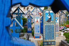 Wesoło cmentarz Sapanta, Maramures, Rumunia Fotografia Stock