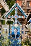 Wesoło cmentarz Sapanta, Maramures, Rumunia Zdjęcie Royalty Free