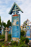 Wesoło cmentarz Sapanta, Maramures, Rumunia Obraz Stock