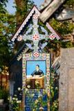 Wesoło cmentarz Sapanta, Maramures, Rumunia Fotografia Royalty Free