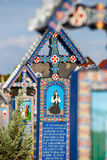 Wesoło cmentarz Sapanta, Maramures, Rumunia Obraz Royalty Free