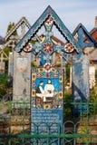 Wesoło cmentarz Sapanta, Maramures, Rumunia Zdjęcie Stock