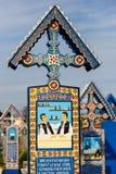 Wesoło cmentarz Sapanta, Maramures, Rumunia Tamte cmentarz jest unikalny w Rumunia Zdjęcie Stock