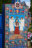 Wesoło cmentarz Sapanta, Maramures, Rumunia Tamte cmentarz jest unikalny w Rumunia Obrazy Royalty Free