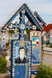 Wesoło cmentarz Sapanta, Maramures, Rumunia Tamte cmentarz jest unikalny w Rumunia Zdjęcia Royalty Free