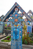 Wesoło cmentarz Sapanta, Maramures, Rumunia Tamte cmentarz jest unikalny w Rumunia Obraz Stock