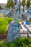 Wesoło cmentarz Sapanta, Maramures, Rumunia Tamte cmentarz jest unikalny w Rumunia i w Zdjęcie Royalty Free