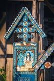 Wesoło cmentarz Sapanta, Maramures, Rumunia Tamte cmentarz jest unikalny w Rumunia i w th Zdjęcie Stock