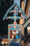 Wesoło cmentarz Sapanta, Maramures, Rumunia Tamte cmentarz jest unikalny w Rumunia i w th Zdjęcie Royalty Free