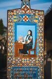 Wesoło cmentarz Sapanta, Maramures, Rumunia Tamte cmentarz jest unikalny w Rumunia i w th Zdjęcia Royalty Free