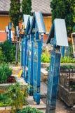 Wesoło cmentarz Sapanta, Maramures, Rumunia Tamte cmentarz jest unikalny w Rumunia i w th Zdjęcia Stock
