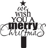 wesoło Bożego Narodzenia życzenie ty Fotografia Royalty Free