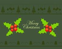 Wesoło kartka bożonarodzeniowa Zdjęcia Royalty Free