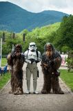 Portrait of people with star wars costume  at cosplay exhibition event stock photo