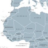 West Africa countries political map Royalty Free Stock Photos