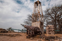 West Africa Gambia - old Portuguese cannon royalty free stock images