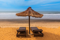 West Africa Gambia - Paradise beach. royalty free stock images