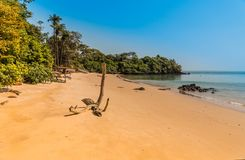West africa Guinea-Bissau Bijagos islands. Empty paradise beach in the in the paradise bay stock photo