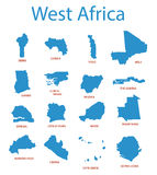 West africa - maps of territories - vector Royalty Free Stock Photos