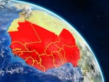 West-Afrika vom Raum lizenzfreie abbildung