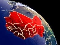 West-Afrika vom Raum vektor abbildung